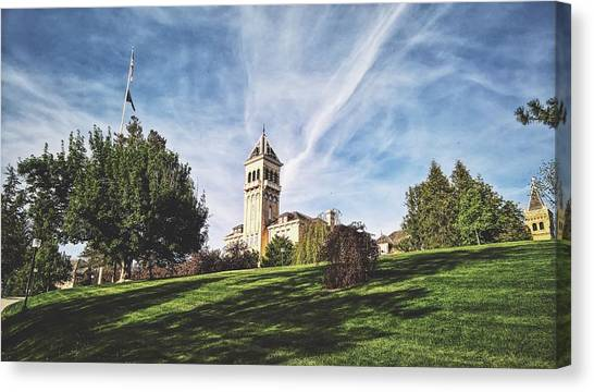 Utah State University Canvas Print - Old Main Hill by Tony Anderson