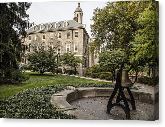 9c377eecb1f65 Penn Valley Canvas Print - Old Main Penn State Bell by John McGraw