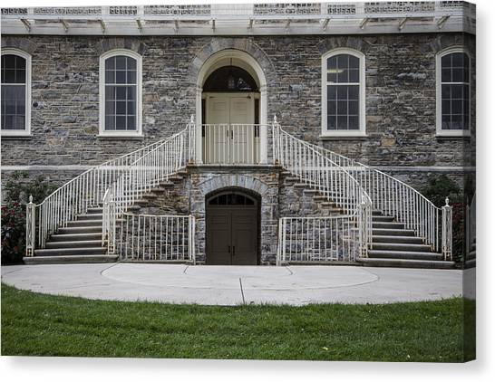 Penn State University Canvas Print - Old Main Penn State Stairs  by John McGraw