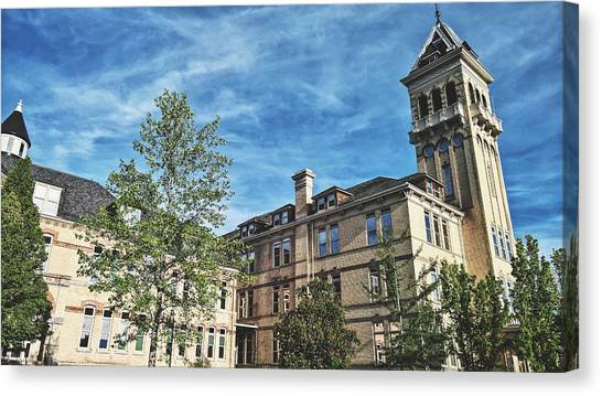 Utah State University Canvas Print - Old Main by Tony Anderson
