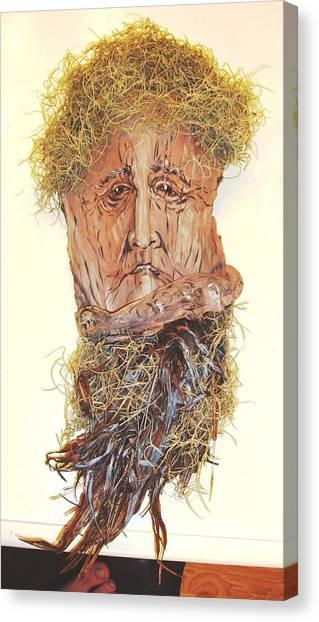 Old Man In A Tree Canvas Print by Ellen Burns