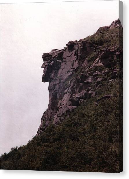 New Hampshire Canvas Print - Old Man Of The Mountain by Wayne Toutaint