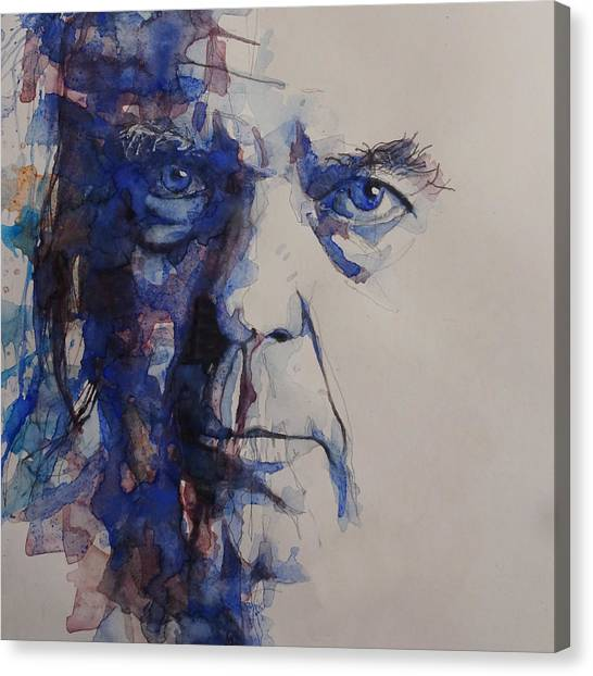 Crazy Canvas Print - Old Man - Neil Young  by Paul Lovering