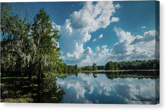 Treeline Canvas Print - Old Man River by Marvin Spates