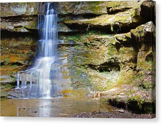 Old Man's Cave Waterfall Canvas Print