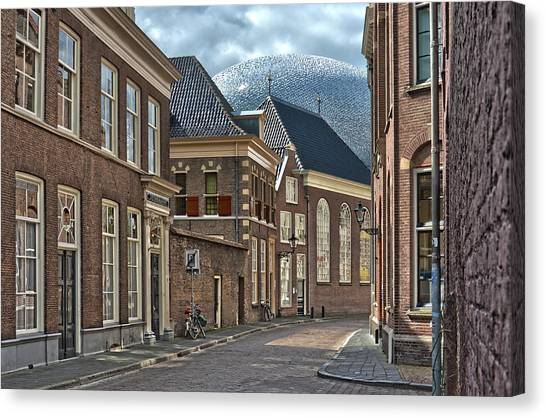 Old Meets New In Zwolle Canvas Print