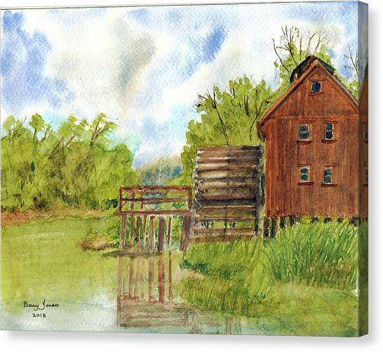 Canvas Print featuring the painting Old Mill by Barry Jones