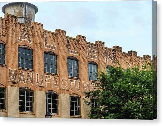 Canvas Print featuring the photograph Old Mill Building In Buford by Doug Camara