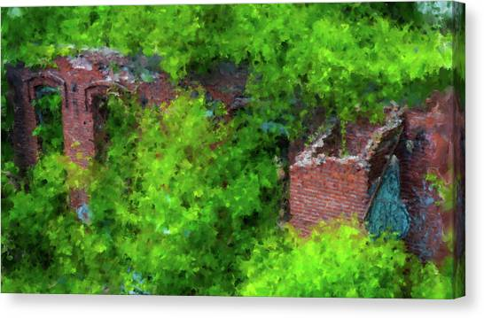 Old Mill Building In Lawrence Massachusetts Canvas Print