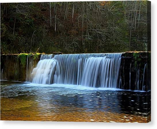 Old Mill Dam Canvas Print