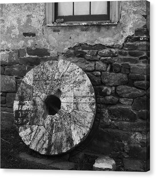 Old Mill Stone Canvas Print