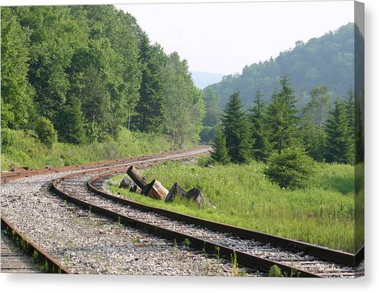 Old Mountain Railway Canvas Print by Christopher Purcell