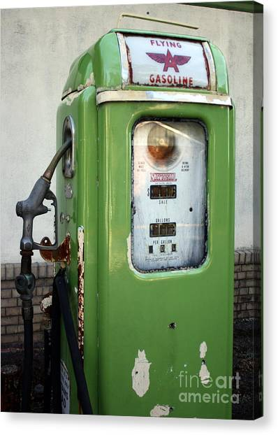 Old National Gas Pump Canvas Print by DazzleMePhotography