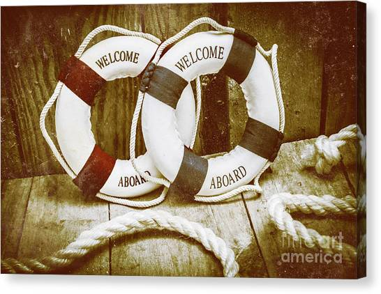 Lifeguard Canvas Print - Old Nautical Art by Jorgo Photography - Wall Art Gallery