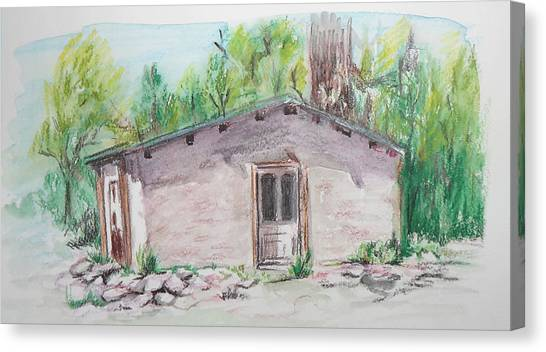 Old New Mexico House Canvas Print