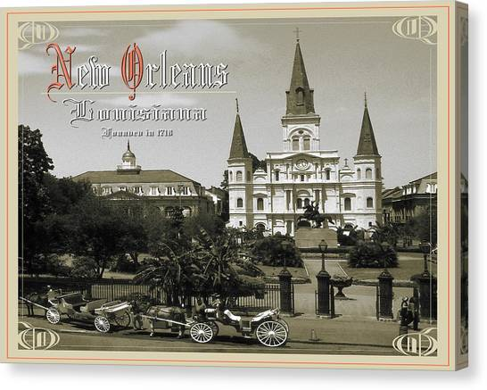 Old New Orleans Louisiana - Founded 1718 Canvas Print