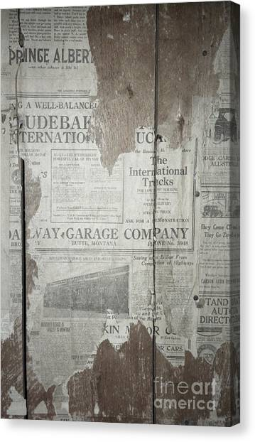Vintage Canvas Print - Old News by Richard Rizzo