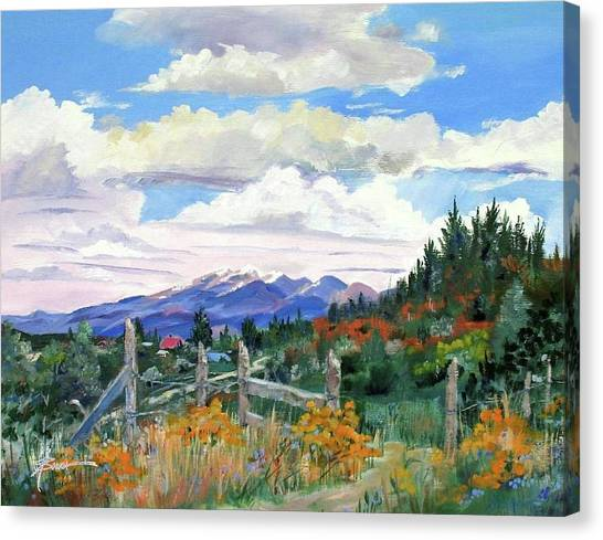Old North Fence-in Colorado Canvas Print
