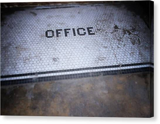 Grunge Canvas Print - Old Office- Urban Photography By Linda Woods by Linda Woods