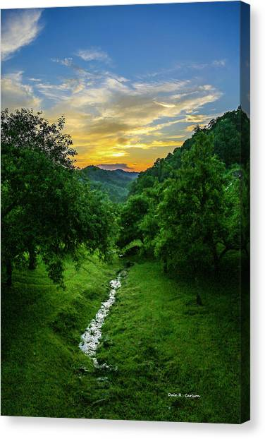Old Orchard Glow Canvas Print