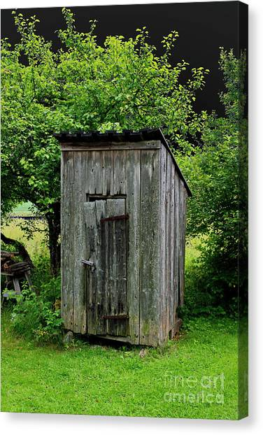 Not In Use Canvas Print - Old Outhouse by Esko Lindell
