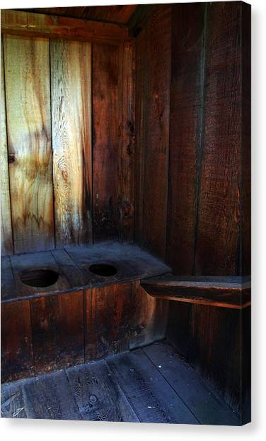 Old Outhouse Canvas Print