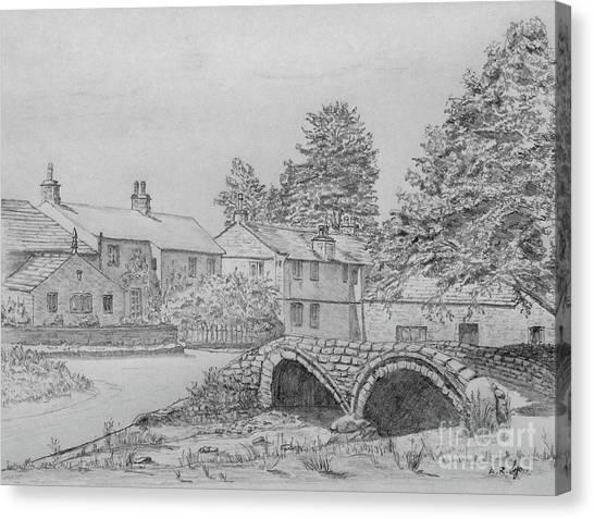 Old Packhorse Bridge Wycoller Canvas Print