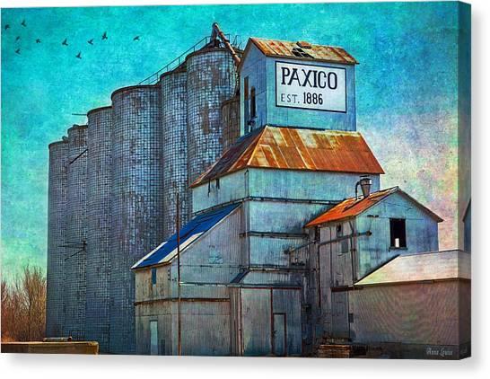 Old Paxico Kansas Grain Elevator Canvas Print