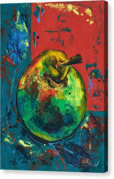 Old Pear Canvas Print