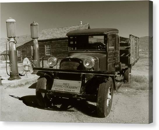 Old Pickup Truck 1927 - Vintage Photo Art Print Canvas Print