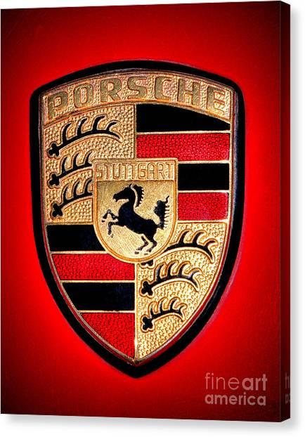 Old Porsche Badge Canvas Print