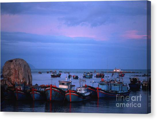 Old Port Of Nha Trang In Vietnam Canvas Print
