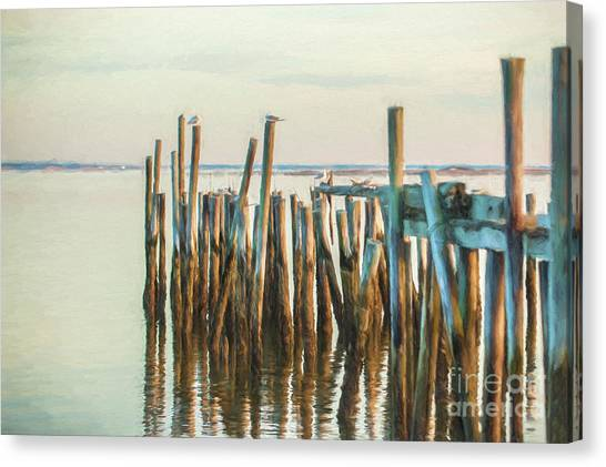 Old Provincetown Wharf Canvas Print
