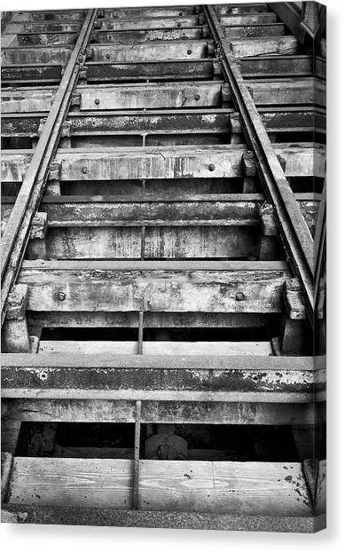 Old Rails At Mill City Museum Canvas Print
