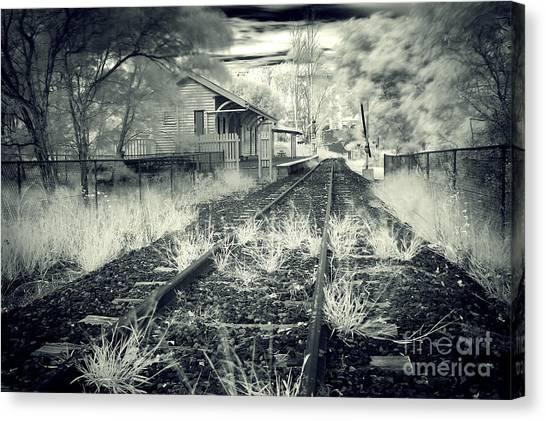 Old Railway Station  Canvas Print by Gwenda  Harvey