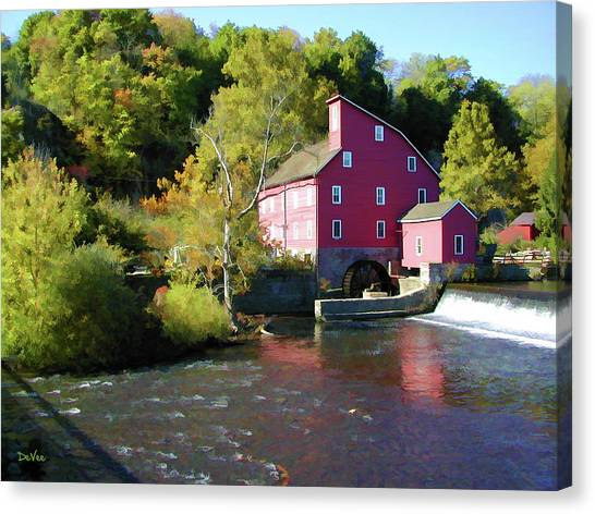 Old Red Mill Canvas Print by Doug Vance