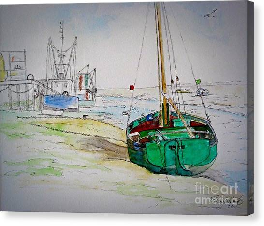 Old River Thames Fishing Boat Canvas Print