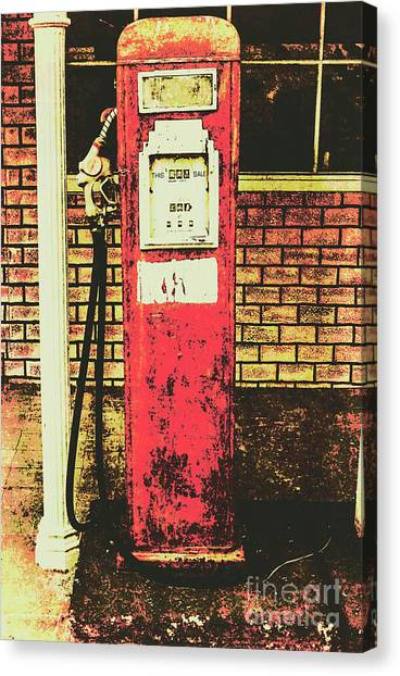 Historic Route 66 Canvas Print - Old Roadhouse Gas Station by Jorgo Photography - Wall Art Gallery
