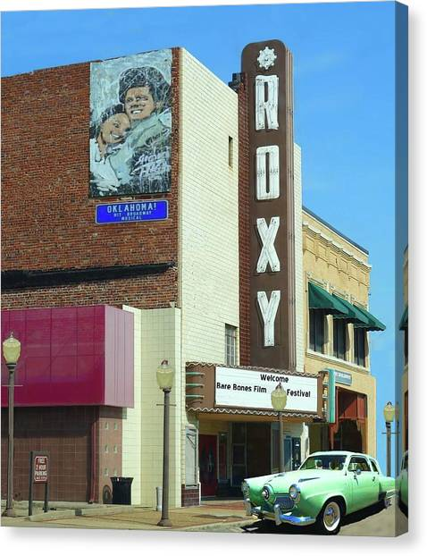 Old Roxy Theater In Muskogee, Oklahoma Canvas Print