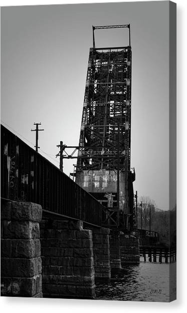 Old Rr Bridge Providence Ri Canvas Print