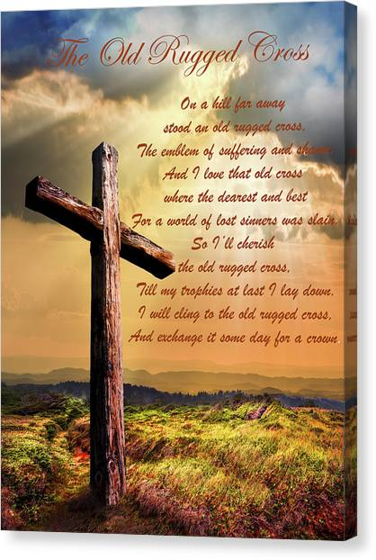 The Old Rugged Cross Canvas Prints