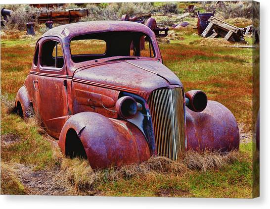 Junk Canvas Print - Old Rusty Car Bodie Ghost Town by Garry Gay