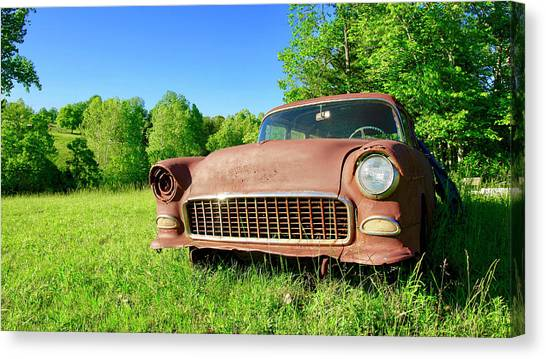Old Rusty Car Canvas Print