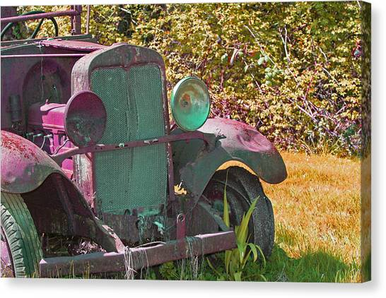 Old Rusty Truck C1002 Canvas Print by Mary Gaines