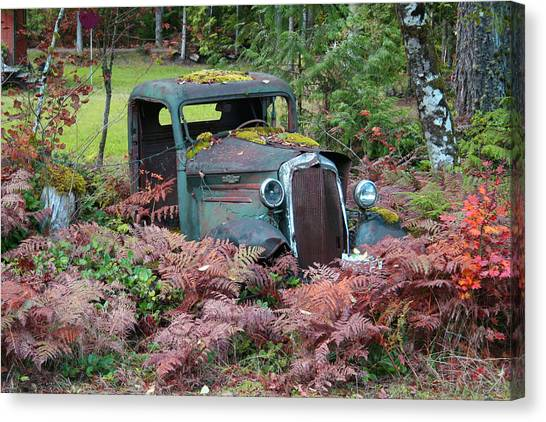 Old Rusty Truck I C1000 Canvas Print by Mary Gaines