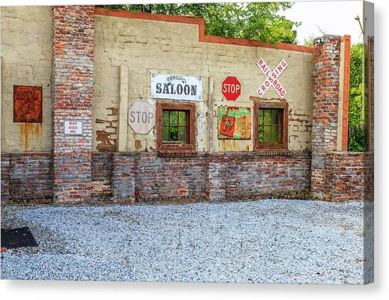 Canvas Print featuring the photograph Old Saloon Wall by Doug Camara