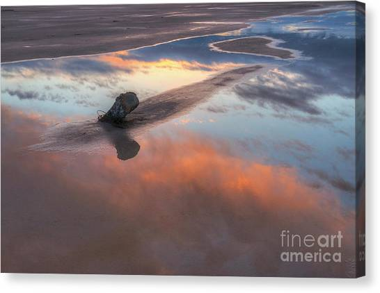 Canvas Print featuring the photograph Old Saltair Reflection by Spencer Baugh
