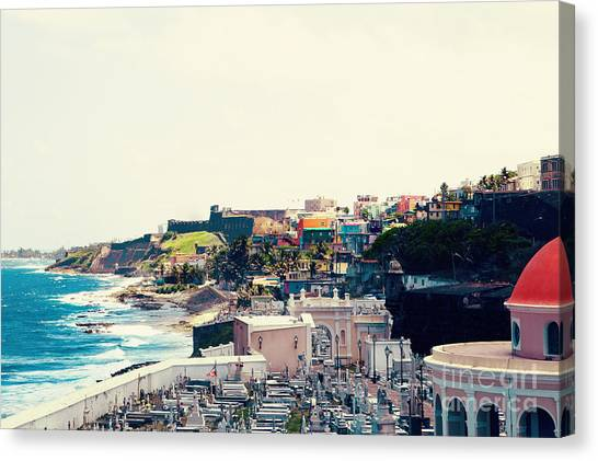 Old Canvas Print - Old San Juan Puerto Rico by Kim Fearheiley