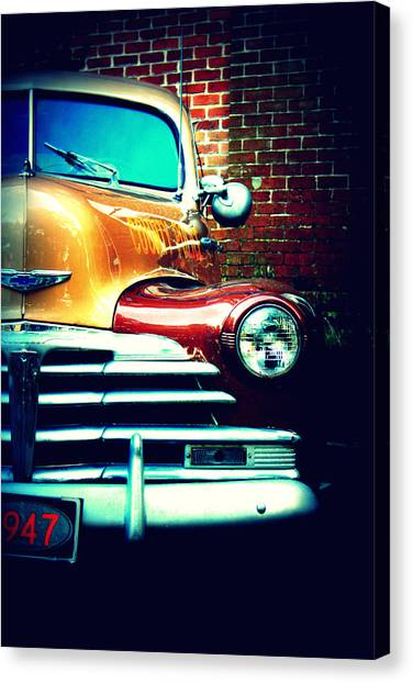 Police Cars Canvas Print - Old Savannah Police Car by Dana  Oliver