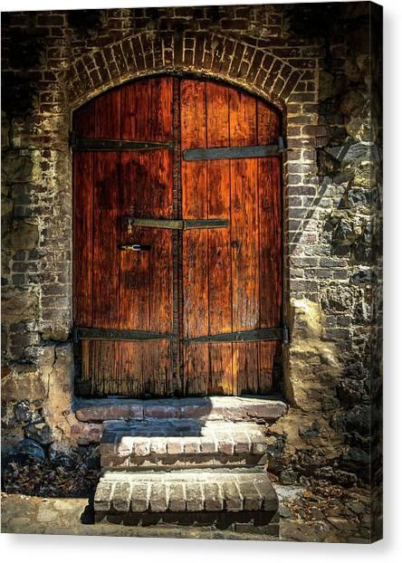 Old Savannah Warehouse Door Canvas Print